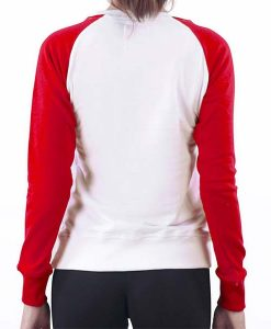 Sweater american Ladies white-red back_